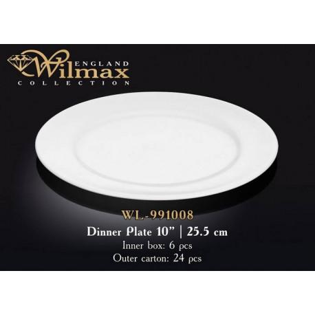 Тарелка обеденная 25,5см Wilmax WL-991008