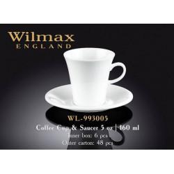 Чашка кофейная и блюдце 160мл Wilmax  WL-993005