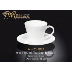 Чашка чайная и блюдце 180мл Wilmax  WL-993004