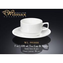 Чашка чайная и блюдце 220мл Wilmax  WL-993008