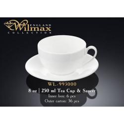 Чашка чайная и блюдце 250мл Wilmax WL-993000