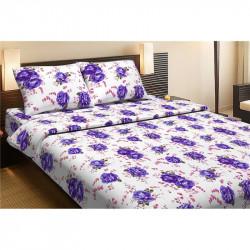 Постельное белье полуторное Lotus Life Collection - Agnes фиолетовый