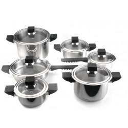 Набор посуды BergHOFF Jupiter 12 пр. со стекл. крышками 1112701
