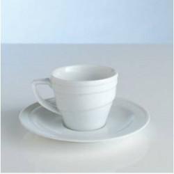 Чашка для кофе с блюдцем (0,1 л) фарфор Hotel 1690193