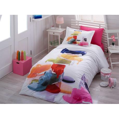 Комплект постельного белья полуторный Hobby 3DPoplin - Rainbow