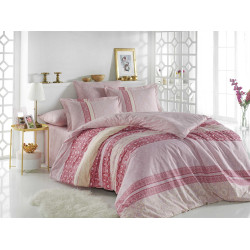 Постельное белье евро Hobby Poplin - Emma розовое