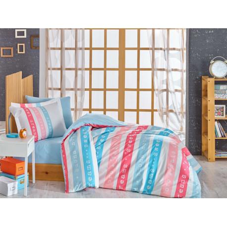 Комплект постельного белья полуторный Hobby Poplin - Sweet Dreams розовый