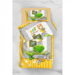 Постельное белье для подростков 160х220 Eponj Home 3D Micro Satin - Stompy Sari-Yesil