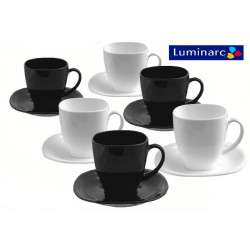 Набор чайный 12пр Luminarc Carine Black/White D2371