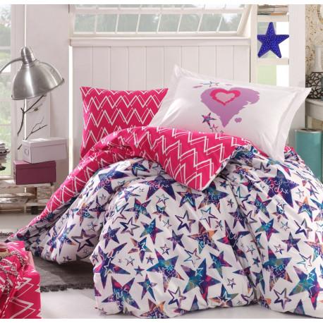 Комплект постельного белья полуторный Hobby Poplin - Carmen фуксия