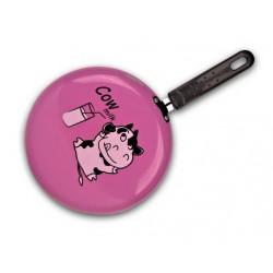 """Сковорода блинная 23 cm Granchio  розовая   """"Cow milk"""" Crepe 88270"""