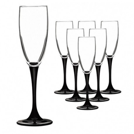 Бокалы для шампанского 170мл/6шт  Luminarc Domino H8167/1