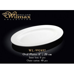 Wilmax Блюдо овальное с-полями 20см WL-992497