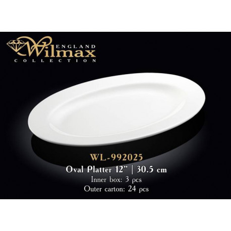 Wilmax Блюдо овальное с-полями 30,5см WL-992025