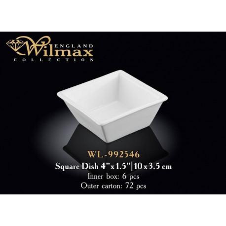 Емкость д-закусок 7,5x7,5x3,5см Wilmax WL-992546