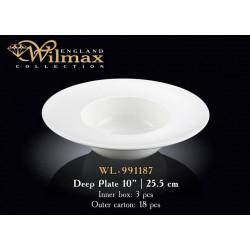 Тарелка глубокая 25,5см Wilmax WL-991187