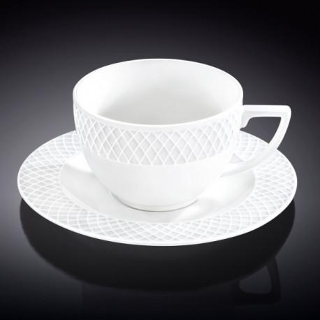 Чашка капучино&блюдце 170мл Wilmax WL-880106-JV/AB