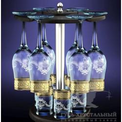 Набор бокалов 13пр декор с рисунком Мускат GE05-160/837-БС Гусь хрустальный