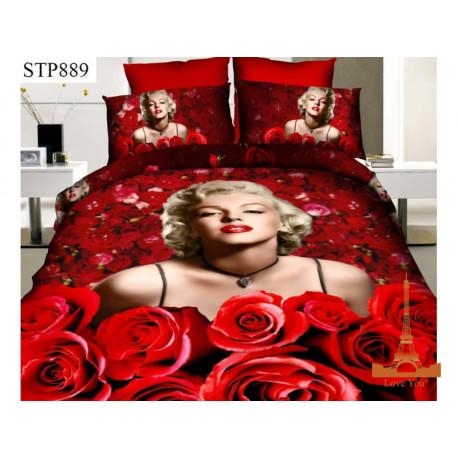 Постельное белье полуторное 3D Love you Монро stp 889