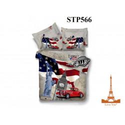 Постельное белье евро 3D Love you Бомонд stp 566