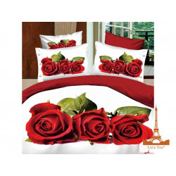 Постельное белье евро 3D Love you Любовь stp 344