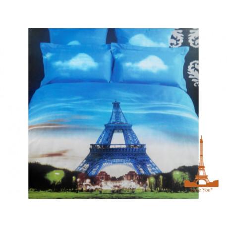 Постельное белье евро 3D Love you Париж stp 332