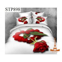 Постельное белье евро 3D Love you Симпатия stp 898