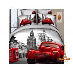 Постельное белье семейное 3D Love you Лондон stp 503