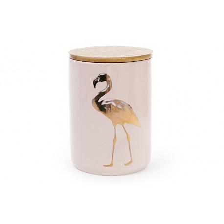 Банка фарфоровая с бамбуковой крышкой Фламинго Bonadi