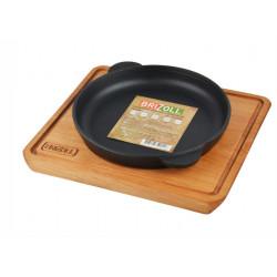 Сковорода чугунная с подставкой 180 x 25 мм Brizoll HoReCa Н1825-Д
