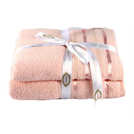 Полотенце махровое 1шт 100х150 Hobby - Nisa пудра