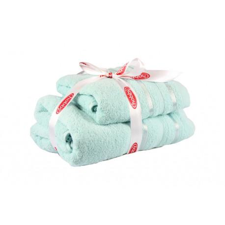 Полотенце махровое 1шт 100х150 Hobby - Nisa светло-бирюзовый
