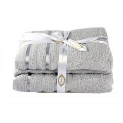Полотенце махровое 1шт 100х150 Hobby - Nisa светло-серый