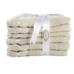 Набор полотенец махровых 6шт 30х50 Hobby - Nisa бежевый
