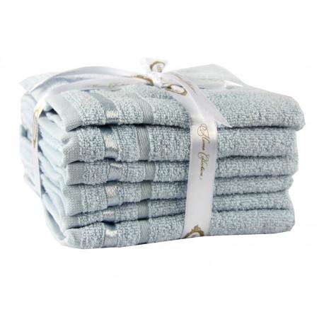 Набор полотенец махровых 6шт 30х50 Hobby - Nisa голубой