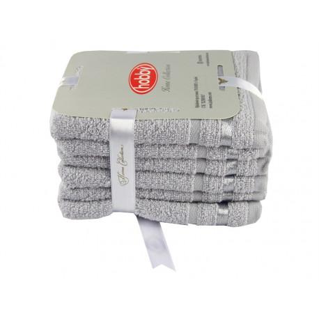 Набор полотенец махровых 6шт 30х50 Hobby - Nisa светло-серый