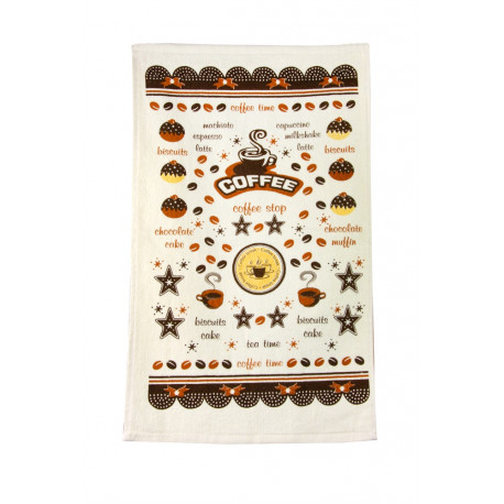 Полотенце кухонное 30х50 IzziHome-Кофе тайм