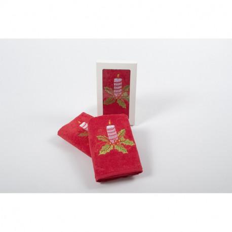 Полотенце махровое 30х50 Lotus - New Year 214