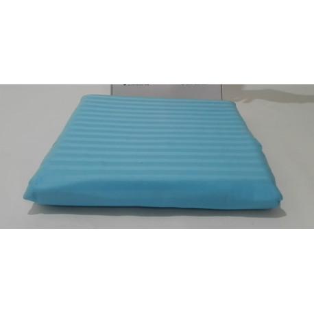 Простынь на резинке 180х200+25 Lotus Отель - Сатин Страйп 1х1 голубой