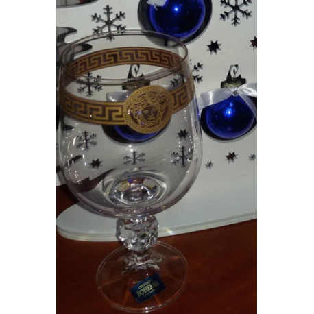 Набор бокалов для вина 6 шт - 340 мл Bohemia Claudia (Sterna) Версаче