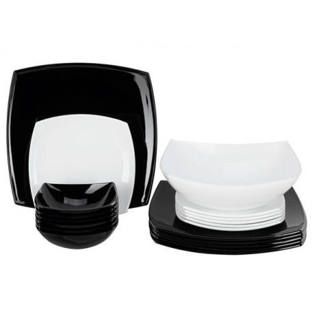 Сервиз столовый-19пр Quadrato Black&White Luminarc C5239