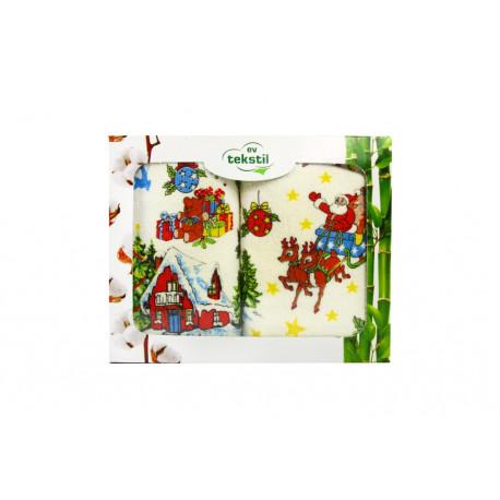 Набор полотенец махровых 2шт 40х60 IzziHome - Новый год №1