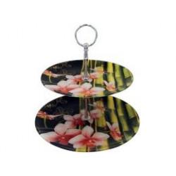 Фруктовница 2_х Орхидея розовая M 120