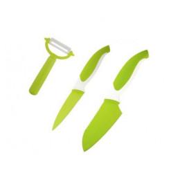 Набор ножей 3пр Granchio зеленый 88683