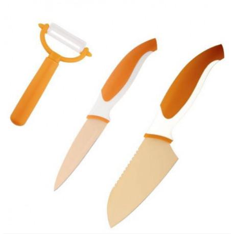 Набор ножей 3пр Granchio оранж 88685