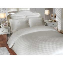 Комплект постельного белья евро Hobby Bamboo - Diamond Houdstooth кремовый