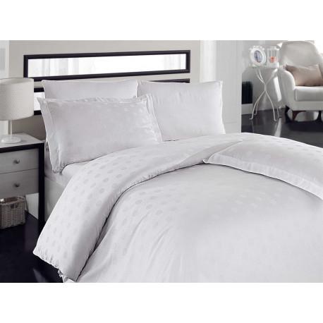 Комплект постельного белья евро Hobby Bamboo - Diamond Round белый