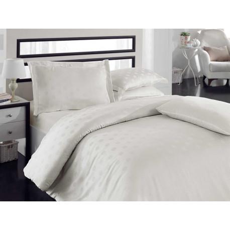 Комплект постельного белья евро Hobby Bamboo - Diamond Round кремовый