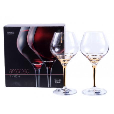 Бокалы для вина Bohemia Amoroso 350мл-2шт b40651-M8431