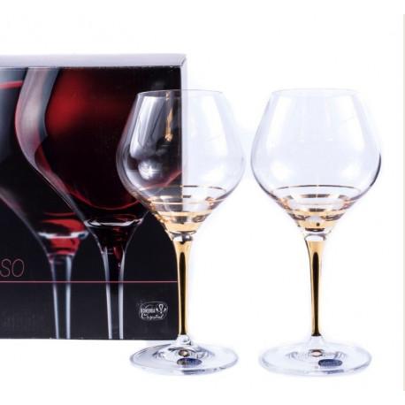 Бокалы для вина Bohemia Amoroso 450мл-2шт b40651-M8431